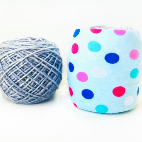 Mini Light Blue Polka Dot Yarn Organizer