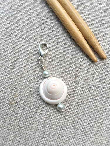 genuine shell stitch marker for knitting and crochet