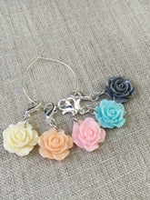 complete front view of floral stitch marker set