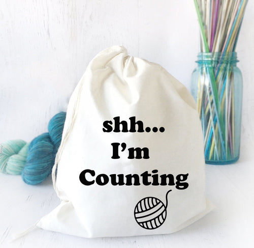 Cotton Canvas Tote Bag for Crochet & Knitting