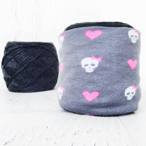 Skull & Hearts Skein Coat