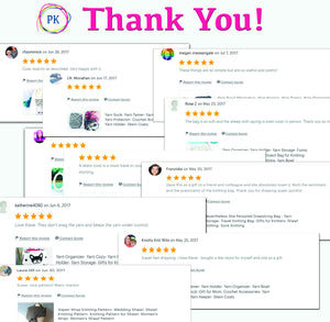 customer reviews received for our canvas project bags