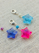 set of 3 lightweight star stitch markers for knitting and crochet