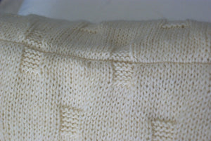Cobblestone Faux Cable Knit Pillow Cover Pattern