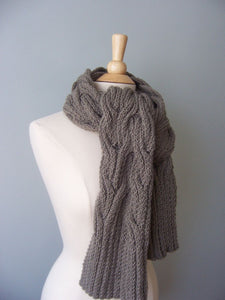 Aspen wrap shown as a scarf around your neck