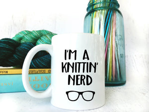 Gift for Mom Knitting Nerd Tea Cup