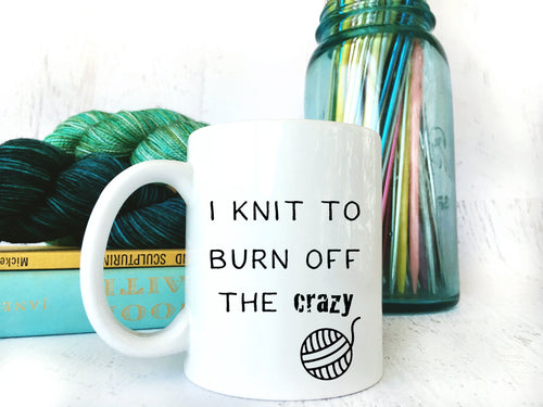 Knitting Gift for Her Sarcastic Coffee or Tea Mug