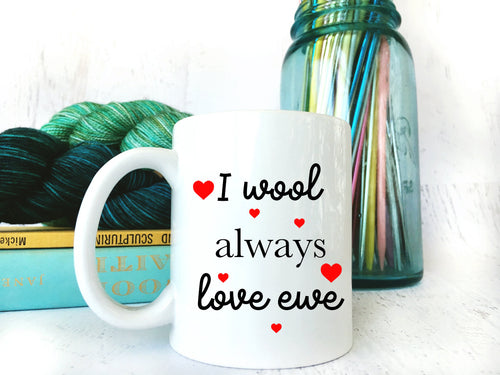 Valentine's Day Coffee Mug for Knitters & Crocheters
