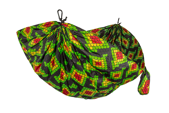 Grand Trunk Parachute Nylon Hammock, Double, Rasta