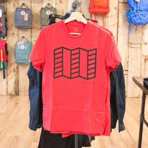 Topo Map T-Shirt, Red, Medium