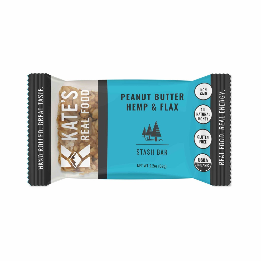 Kate's Real Food, Stash Bar (Peanut Butter, Hemp & Flax)