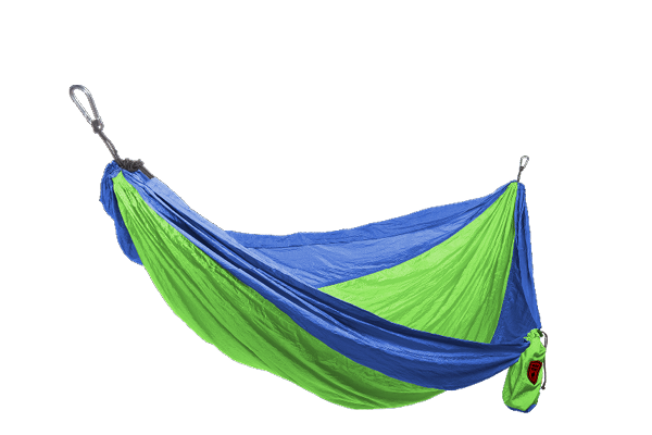Grand Trunk Parachute Nylon Hammock, Double, Blue/Lime Green