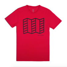 Topo Map T-Shirt, Red, Small