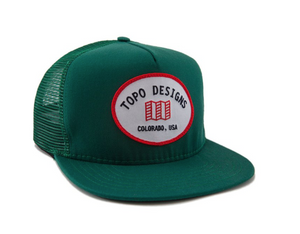 Topo Snapback Hat, One Size, Green