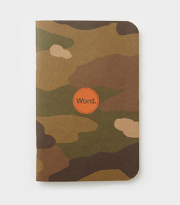 Word Notebook, Traditional Camo (3-pk)