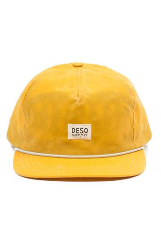 Deso Waxed Cotton Cap, Mustard