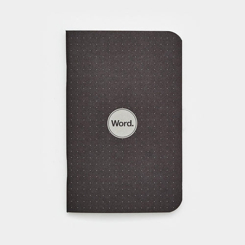 Word Notebook, Black Dot Grid (3-pk)