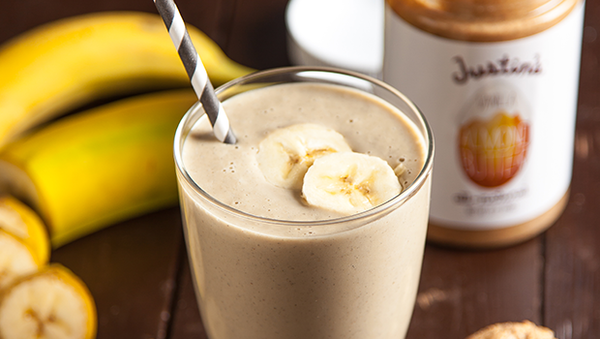banana almond butter protein smoothie