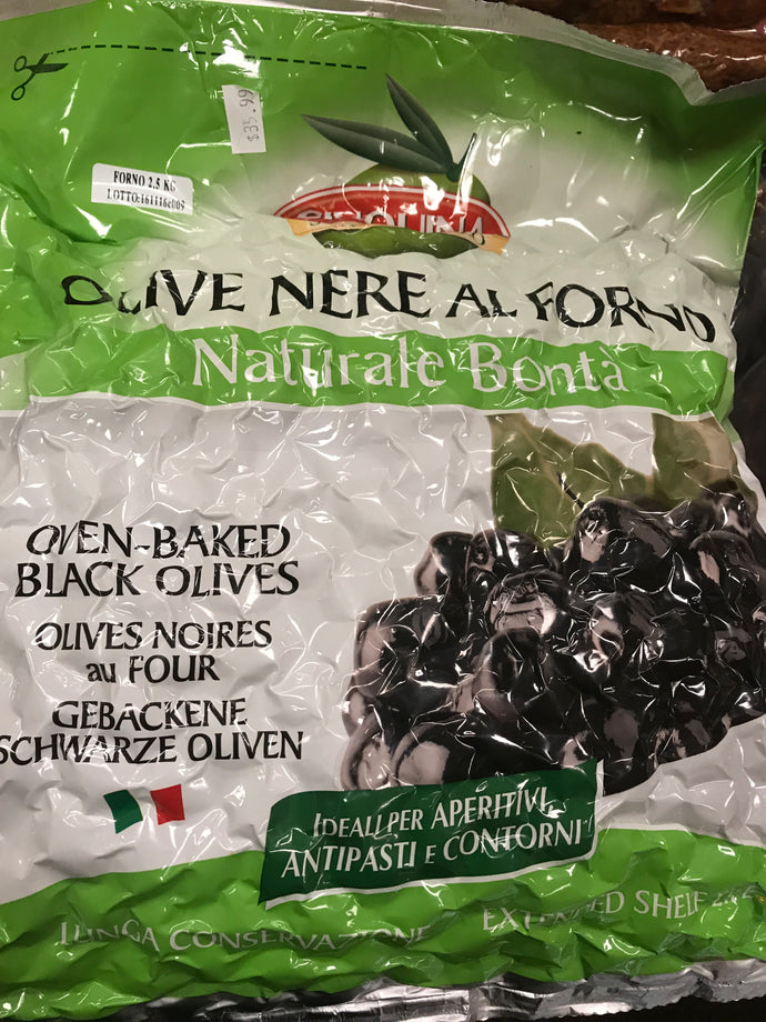 Oven baked black olives 5lb bag