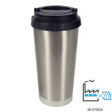16 oz Stainless Steel Thermal Travel Mug - Silver - Orca