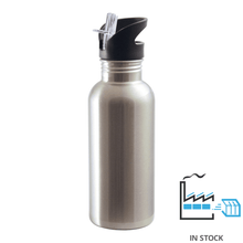 600 ml SSTBottle - Straw Top - Silver