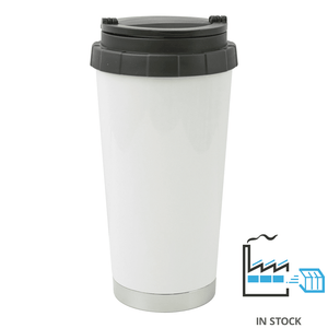 16 oz Stainless Steel Thermal Travel Mug  - White - Orca