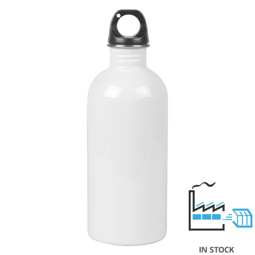 600 ml - Stainless Steel  Sports Bottle - White - NA