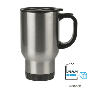 14 oz. Stainless Steel Travel Mug - Orca - Silver