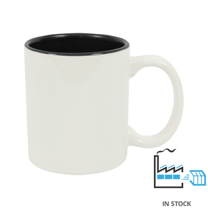 11 oz. Ceramic Mug - Two-Tone - Black - Orca