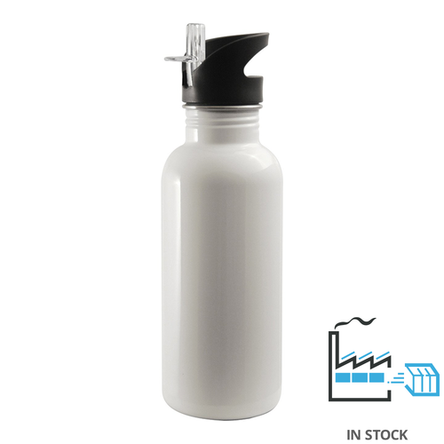 600 ml SSTBottle - Straw Top - White
