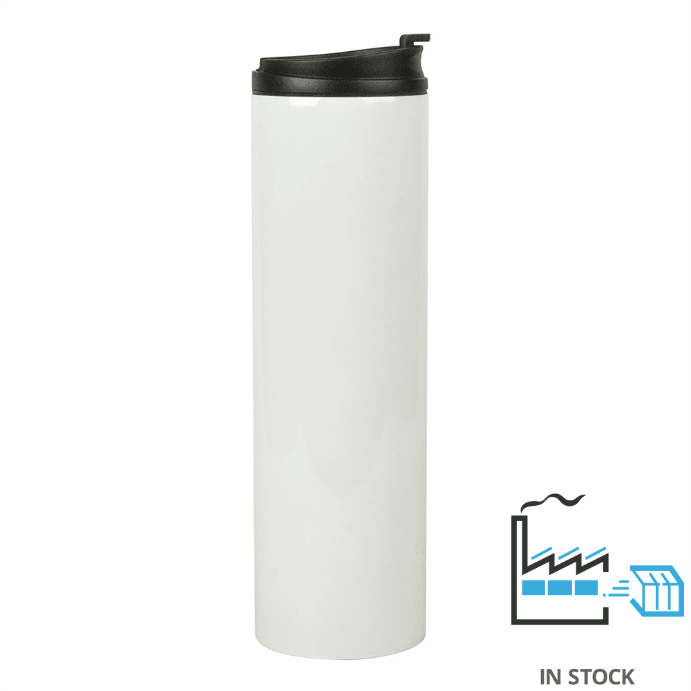 20 oz Stainless Steel Tall Tube Thermal Tumbler - White