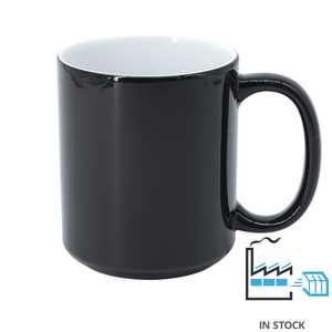 11oz. Color Changing Mug - Black - High Light (Brighten)