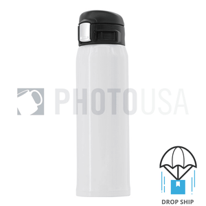 450ml Stainless Steel Vacuum Insulated Water Bottle w/ Buffered Flip-Top Lid