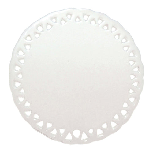Ceramic  Round Doily Ornament