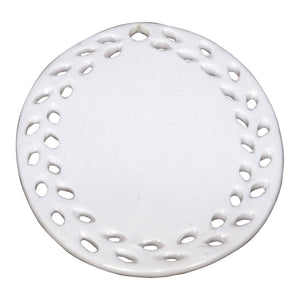 Ceramic Oval Doily Ornament