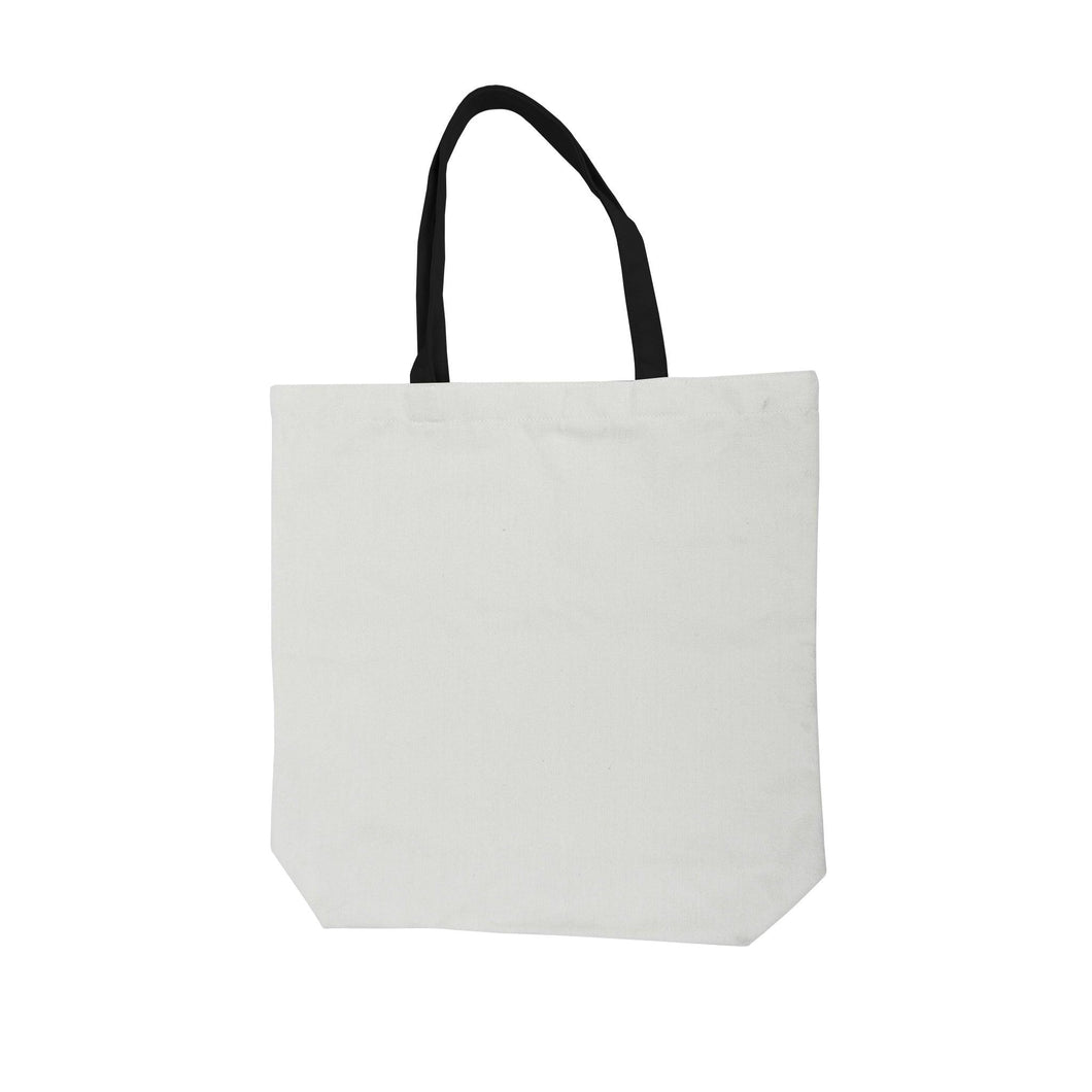 White w Black Handle Tote Bag