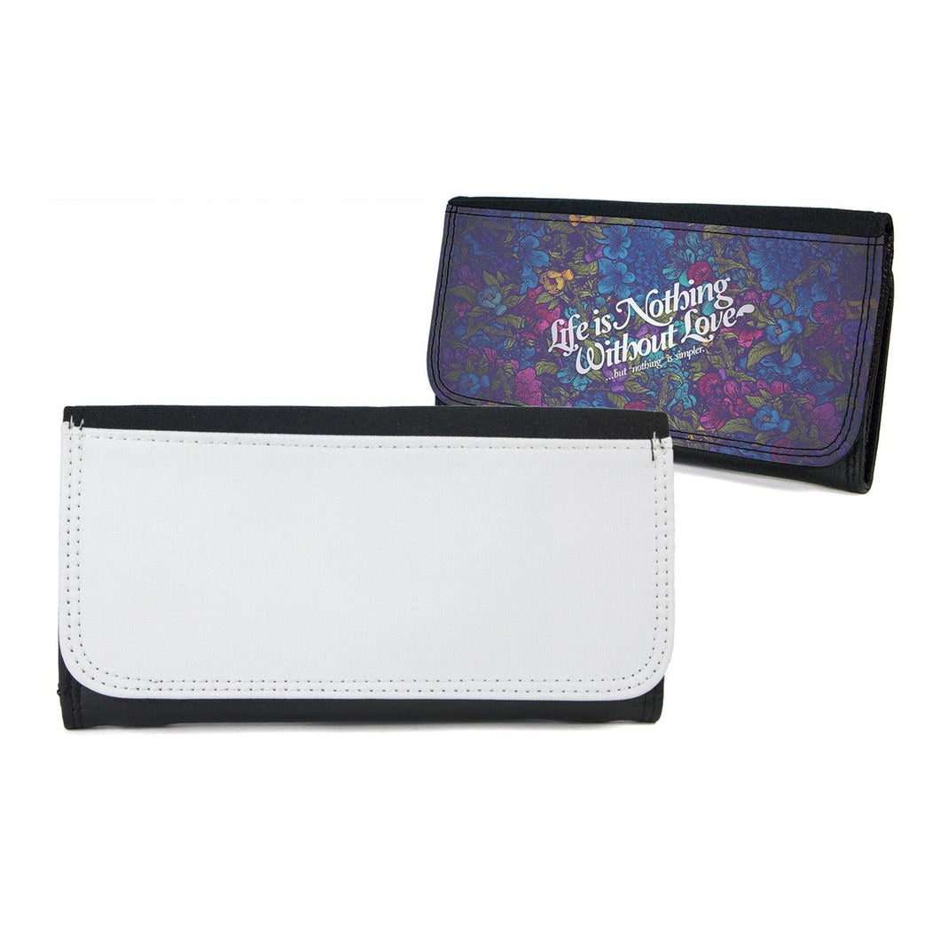 Large Faux Leather Wallet