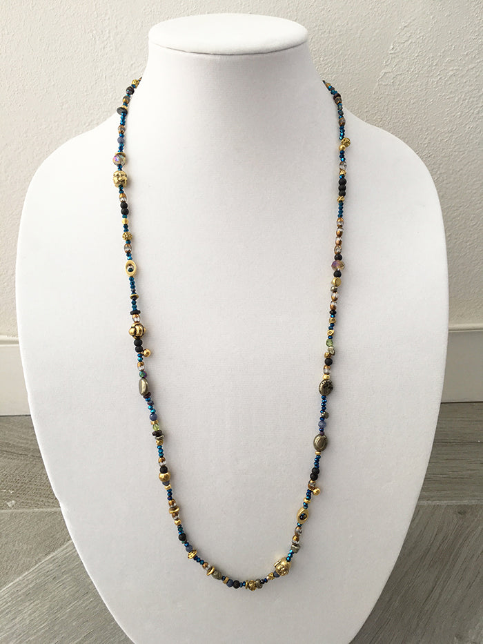 glass & metal mixed beads - $32