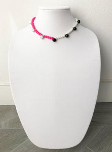 "mixed beads with bells - 16"" - STYLE 024"