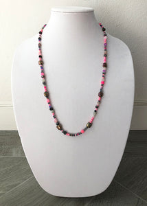 "mixed beads with buddhas - 27"" - STYLE 034"