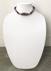 "mixed beads with agate - 14"" - STYLE 045"