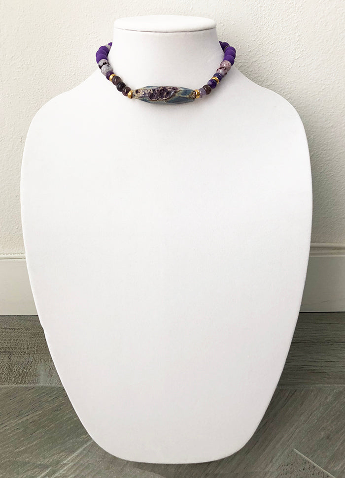 mixed beads with agate - 14
