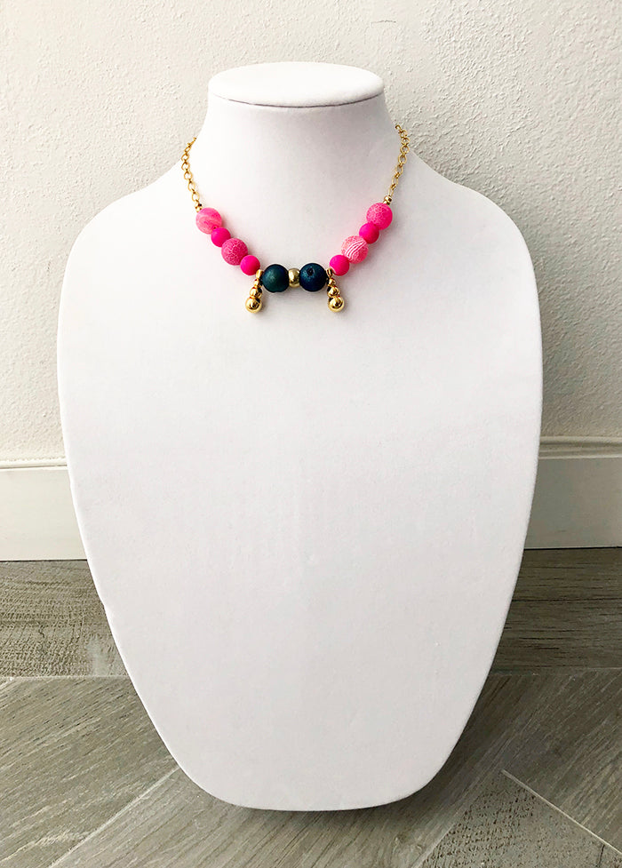 mixed beads on chain - 16