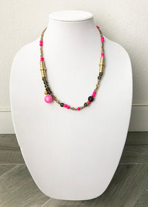 "mixed beads/metal/bells - 22"" - STYLE 081"
