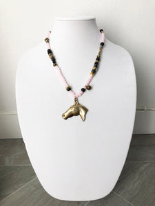 "mixed beads with horse - 21"" - STYLE 098"