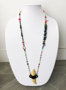"mixed beads with charm - 32"" - STYLE 108"