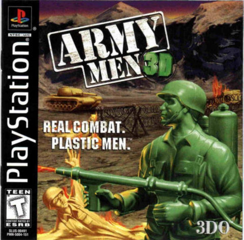 Army Men 3D Game - PlayStation 1 (PS1) - Disc Only
