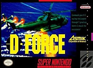 D-Force Game - Super Nintendo (SNES)