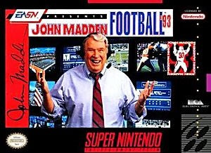 John Madden Football '93 Game - Super Nintendo (SNES)