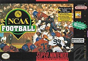 NCAA Football Game - Super Nintendo (SNES)